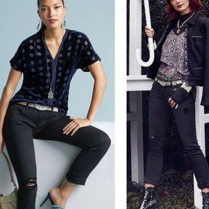 NWOT!✨ CAbi Black Slim Distressed Jeans